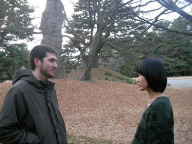 David & Sonoko, Imperial Palace Garden, Sunset, New Years Eve, 2008, video 30min, 2008-09