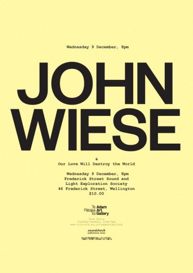 John Wiese poster