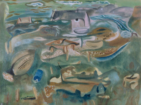 Frances Hodgkins (1869-1947) Kimmeridge foreshore c 1938 oil on canvas 100 x 126cm Victoria University of Wellington Art Collection