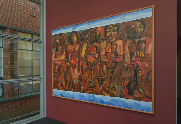 Robyn Kahukiwa, <i>Tangata Whenua</i>, 1986, acrylic on canvas, Victoria University of Wellington Art Collection, accessioned 2009, formerly Wellington College of Education Collection